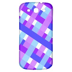 Geometric Plaid Gingham Diagonal Samsung Galaxy S3 S Iii Classic Hardshell Back Case