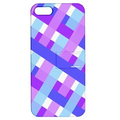 Geometric Plaid Gingham Diagonal Apple Iphone 5 Hardshell Case With Stand