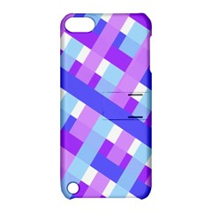 Geometric Plaid Gingham Diagonal Apple Ipod Touch 5 Hardshell Case With Stand
