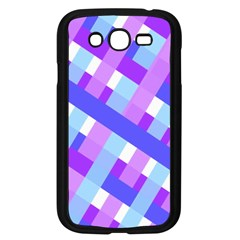 Geometric Plaid Gingham Diagonal Samsung Galaxy Grand Duos I9082 Case (black)