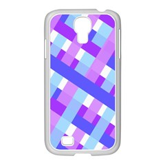 Geometric Plaid Gingham Diagonal Samsung GALAXY S4 I9500/ I9505 Case (White)