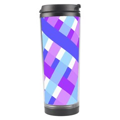 Geometric Plaid Gingham Diagonal Travel Tumbler