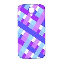 Geometric Plaid Gingham Diagonal Samsung Galaxy S4 I9500/i9505  Hardshell Back Case