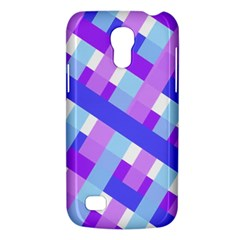 Geometric Plaid Gingham Diagonal Galaxy S4 Mini