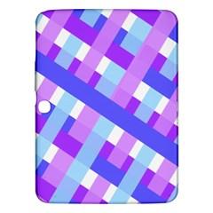 Geometric Plaid Gingham Diagonal Samsung Galaxy Tab 3 (10 1 ) P5200 Hardshell Case