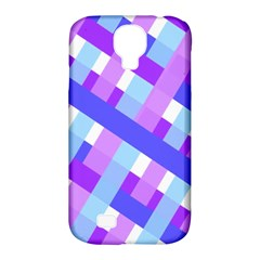 Geometric Plaid Gingham Diagonal Samsung Galaxy S4 Classic Hardshell Case (pc+silicone)