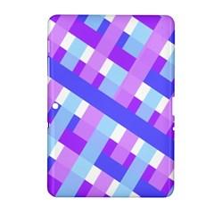 Geometric Plaid Gingham Diagonal Samsung Galaxy Tab 2 (10.1 ) P5100 Hardshell Case