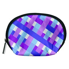 Geometric Plaid Gingham Diagonal Accessory Pouches (medium)