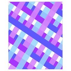 Geometric Plaid Gingham Diagonal Drawstring Bag (Small)