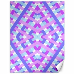 Geometric Gingham Merged Retro Pattern Canvas 36  X 48