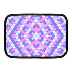 Geometric Gingham Merged Retro Pattern Netbook Case (medium)