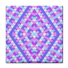 Geometric Gingham Merged Retro Pattern Face Towel