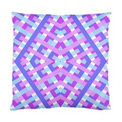 Geometric Gingham Merged Retro Pattern Standard Cushion Case (two Sides)