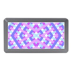 Geometric Gingham Merged Retro Pattern Memory Card Reader (mini)