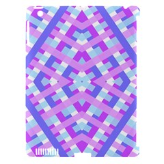 Geometric Gingham Merged Retro Pattern Apple iPad 3/4 Hardshell Case (Compatible with Smart Cover)