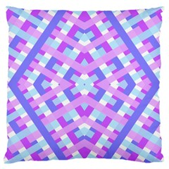 Geometric Gingham Merged Retro Pattern Large Cushion Case (Two Sides)