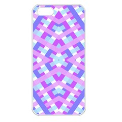 Geometric Gingham Merged Retro Pattern Apple Iphone 5 Seamless Case (white)