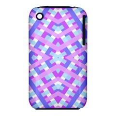 Geometric Gingham Merged Retro Pattern iPhone 3S/3GS