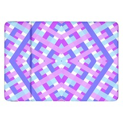 Geometric Gingham Merged Retro Pattern Samsung Galaxy Tab 8.9  P7300 Flip Case