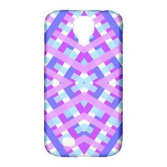 Geometric Gingham Merged Retro Pattern Samsung Galaxy S4 Classic Hardshell Case (pc+silicone)