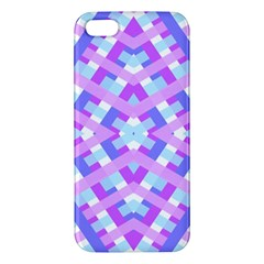 Geometric Gingham Merged Retro Pattern iPhone 5S/ SE Premium Hardshell Case