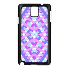 Geometric Gingham Merged Retro Pattern Samsung Galaxy Note 3 N9005 Case (Black)