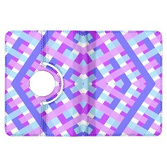 Geometric Gingham Merged Retro Pattern Kindle Fire HDX Flip 360 Case