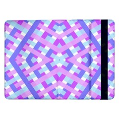 Geometric Gingham Merged Retro Pattern Samsung Galaxy Tab Pro 12.2  Flip Case