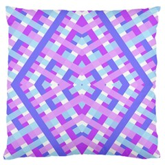 Geometric Gingham Merged Retro Pattern Standard Flano Cushion Case (One Side)