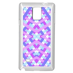 Geometric Gingham Merged Retro Pattern Samsung Galaxy Note 4 Case (white)