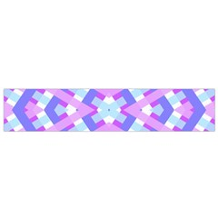 Geometric Gingham Merged Retro Pattern Flano Scarf (Small)