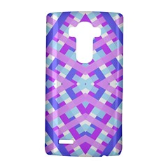 Geometric Gingham Merged Retro Pattern LG G4 Hardshell Case