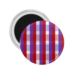 Gingham Pattern Checkered Violet 2.25  Magnets