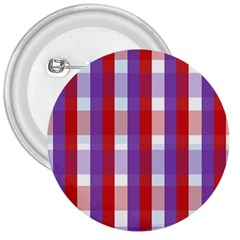 Gingham Pattern Checkered Violet 3  Buttons