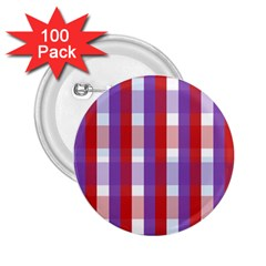 Gingham Pattern Checkered Violet 2 25  Buttons (100 Pack)