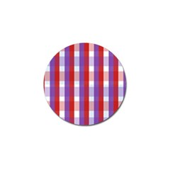 Gingham Pattern Checkered Violet Golf Ball Marker (10 pack)