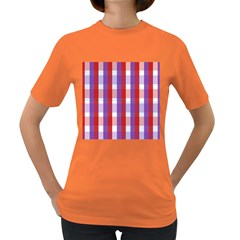 Gingham Pattern Checkered Violet Women s Dark T-Shirt