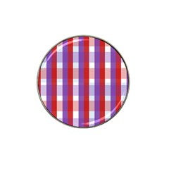 Gingham Pattern Checkered Violet Hat Clip Ball Marker