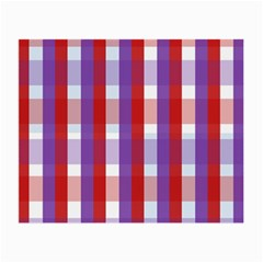 Gingham Pattern Checkered Violet Small Glasses Cloth