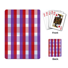 Gingham Pattern Checkered Violet Playing Card