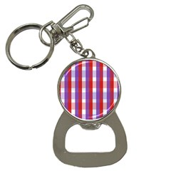 Gingham Pattern Checkered Violet Button Necklaces