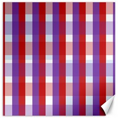 Gingham Pattern Checkered Violet Canvas 20  X 20