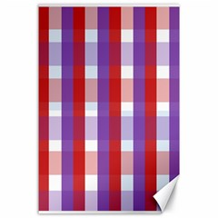 Gingham Pattern Checkered Violet Canvas 24  X 36