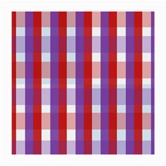 Gingham Pattern Checkered Violet Medium Glasses Cloth