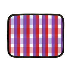 Gingham Pattern Checkered Violet Netbook Case (small)