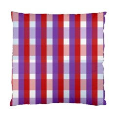 Gingham Pattern Checkered Violet Standard Cushion Case (two Sides)