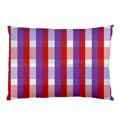 Gingham Pattern Checkered Violet Pillow Case