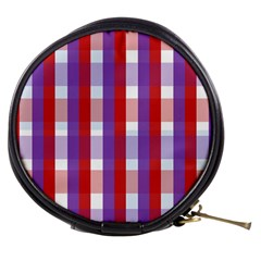Gingham Pattern Checkered Violet Mini Makeup Bags
