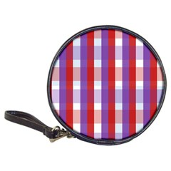 Gingham Pattern Checkered Violet Classic 20 Cd Wallets