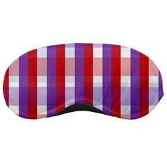 Gingham Pattern Checkered Violet Sleeping Masks